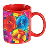 Printland floral Red Coffee Mug 350 - ml