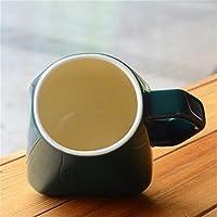 DZXYA Set di 10 tazze da caffè in ceramica creative diamond retrò colazione latte Scrub colorato opaco caffè ,nero