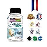 ANXIESTOP - Avec tryptophane, Passiflore, Houblon, Verveine, et Vitamines B1, B3, B6 - Combat les symptômes de l'anxiété et du stress - Termine avec la nervosité et facilite le repos - 30 capsules