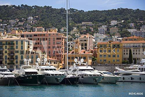 Nice - Cote d'Azur - South of France. #65414606 - Bild auf Leinwand, Foto-Poster, Alu-Dibond, Acrylglas, Forex-Platte, Klebe-Folie (Leinwand, 120 x 60 cm / 60 x 120 cm) ()