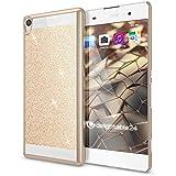 delightable24 Funda Protectora Caso Sparkle Design Case para SONY XPERIA XA Smartphone - Gold Oro