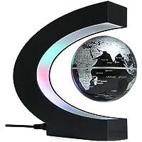 Schwimmender Globus mit LED-Lichtern Berühren Sie Schalter Magnetkugellampe C-Formen Levitationswelt Globe Light für…