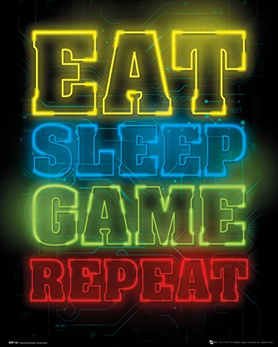 GB Eye, Gaming, Eat Sleep Game Repeat, Mini Poster 40x50cm
