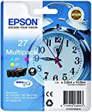 Epson Durabrite Ultra 27 Multipack Ink Cartridge - Cyan/Magenta/Yellow, Pack of 3