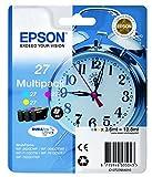 Epson C13T27054010 Tintenpatrone, Blau, Rosa, Gelb