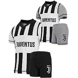9223b24c727d04 PLANETEX Pigiama Estivo Bambino Juve Abbigliamento Juventus Calcio PS 27140  ...