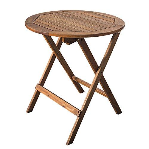 Table de salle à manger de table ronde pliante en teck de haute qualité est le mobilier de terrasse de café-bar balcon extérieur