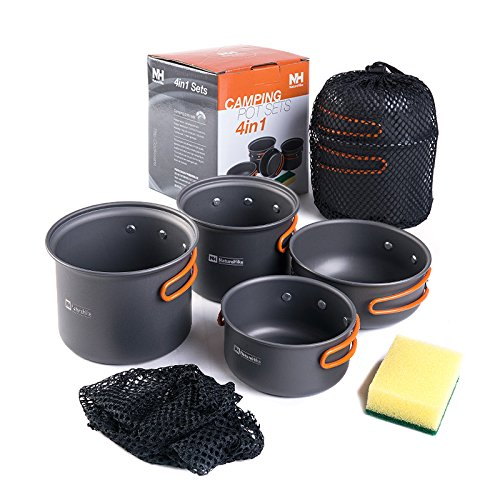 NatureHike 2-3 persons Camping Topf Sets Portable Im Freien Kochgeschirr Picnic Pot and Pan