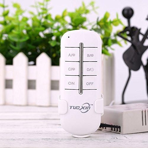 Auntwhale 1 Stück Wireless 3 Kanal an/aus 220 V Licht Fernbedienung Schalter Empfänger Sender (3-kanal 3-licht)
