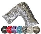 Lancashire Textiles Supreme V Shape Curshed Velvet Velour Pillow Case...