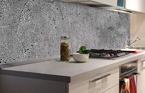 DIMEX LINE Küchenrückwand Folie selbstklebend Beton 180 x 60 cm | Klebefolie - Dekofolie - Spritzschutz für Küche | Premium QUALITÄT