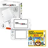 New Nintendo 3DS XL Pearl White +  Super Mario Maker for Nintendo 3DS