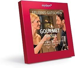 mydays Erlebnis-Gutschein Gourmet Dinner   4-Gängiges Candle-Light-Dinner für 2 Personen   Geschenkidee für Paare   Inklusive Geschenkbox