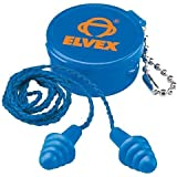 Elvex Quattro Corded Reusable Ear Plug with Container, 25 NRR by Elvex