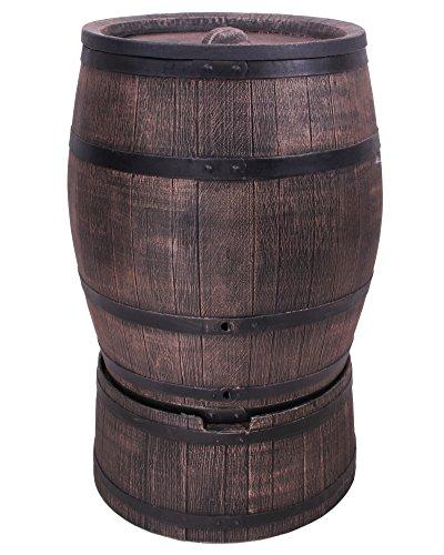 Ondis24 Wasserfass Regentonne Wasserbehälter Amphore Eichenfass 240 Liter mit Ständer