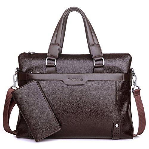 BULAGE Taschen Leder Männer Mobiler Querschnitt Leder Dokumente Business Freizeit Weiches Leder Messenger Schulter Rücken Männlich Brown