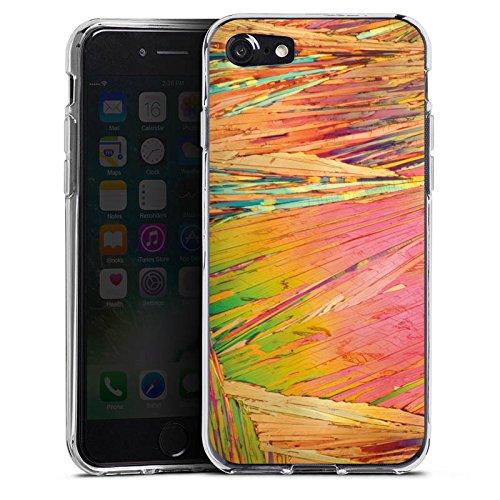 Apple iPhone X Silikon Hülle Case Schutzhülle Regenbogen Kratzer Bunt Silikon Case transparent