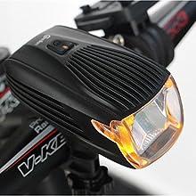 Luz Delantera Inteligente para Bicicleta Recargable por USB, X1 260 Lumen Cree LED Linterna Brillante Lámpara de Seguridad para Bicicletas MTB Ciclismo. Linterna aprobada por el STVZO alemán, a prueba de agua con luz de seguridad amarilla para el día
