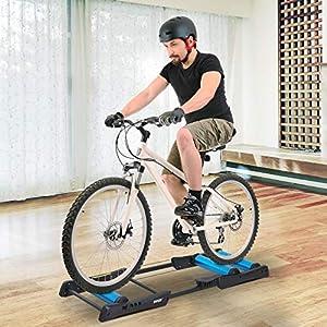 HOMCOM Rodillo de Ciclismo Plegable y Ajustable Rodillo de Entrenamiento para Bicicleta Universal Interior 145x56x10.5cm Aleación de Aluminio