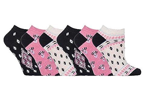 Jennifer Anderton - 6 paires femme quarter coton coloré basses courtes chaussettes (37-42 eur, TL52)