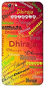Dhiraja (Born of tolerance) Name & Sign Printed All over customize & Personalized!! Protective back cover for your Smart Phone : Apple iPhone 7