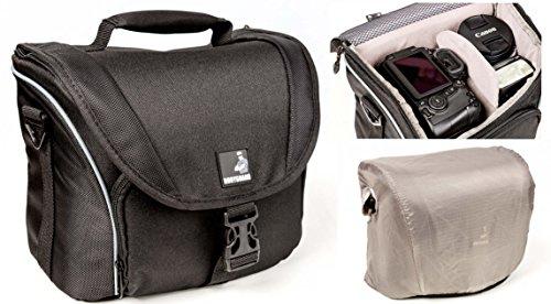 Bodyguard Fototasche für Spiegelreflexkameras : Kamera-Tasche für D-SLR Kamera + 3-4 mittellange Objektive : Fototasche SLR Hoch für z.b. D3300 D5300 D5500 D7100 D7200 D800 Canon EOS 70D 80D 7D Mark II 1300D 750D 760D