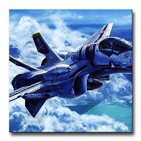 Bleu Décoration murale Tableau aviation Avion mouches Liner en ciel nuageux photos des Impressions sur toile militaire le Décor à l'huile pour Home moderne Décoration d'impression