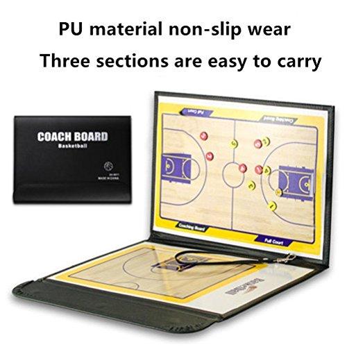 A-Nam Basketball-Coaching-Tafel, magnetisch, radierbar, mit Klemmbrett, 2-in-1-Marker zum Schreiben und Wischen (Coach-board Basketball)
