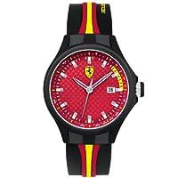 Ferrari 830009 - Reloj analógico de cuarzo para hombre, correa de silicona color negro de Ferrari