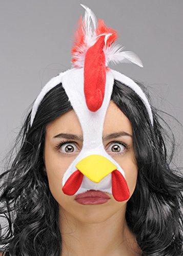 Struts Fancy Dress Huhn Maske auf Stirnband