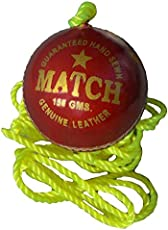 TIMA Cricket Leather Rope Ball (Practice Or Knocking Ball)