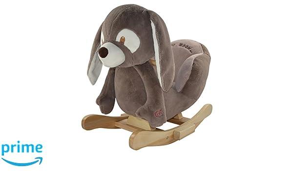 Dondolo 2 Posti Lullaby.Sweety Toys 4850 Ryan The Rabbit Rocking Animal Animale A Dondolo