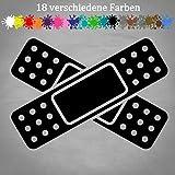 Generic Pflaster Aufkleber 17x12cm Auto Delle Beule Unfall Kratzer Sticker Car Fun JDM in 18 Farben