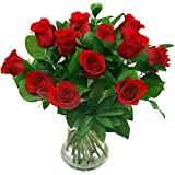 12 Luxury Red Roses Fresh Flower Bouquet