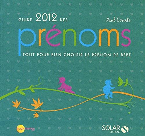 Guide des prénoms 2012