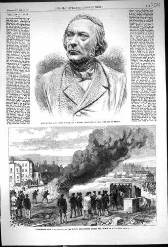 Copie Antique de 1868 Expériences L'extincteur Thame de Victor Cousin Munro de Buste… par original old antique victorian print