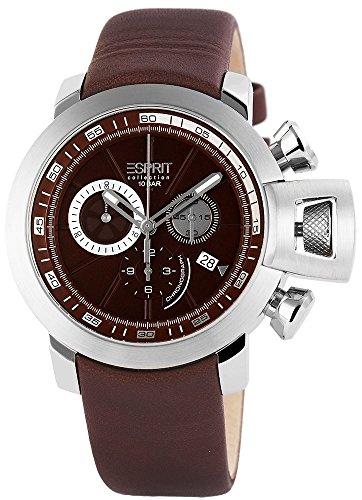 Esprit cronografo Orologio da uomo, in vera pelle, Ø 45 mm - Colore marrone EL101831F03
