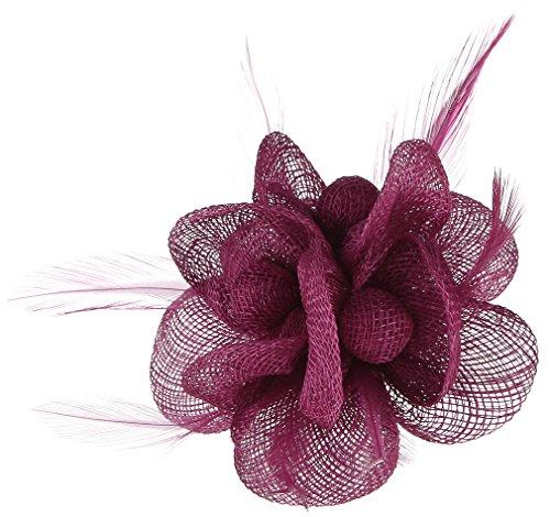 Lukis Mini Hut Damen Fascinator Haar Clip Haarschmuck Haarspange für Kostüm Karneval Fasching Durchmesser 9cm Rose (Der Cloud 9 Kostüm)