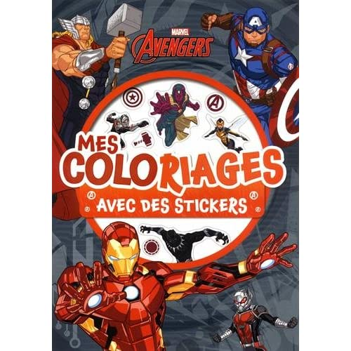 AVENGERS - Mes Coloriages avec Stickers - MARVEL
