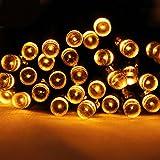 Solar Lichterkette 43 Meter 400er LED Warmweiss, Solarleuchte Wasserdicht für Weihnachten, Hochzeit, Garten, Außen Deko usw.