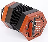 ACCORDEON, CONCERTINA Diatonique en Bois (30clés)