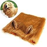 PBPBOX Peluca de león ajustable para perro con orejas abiertas