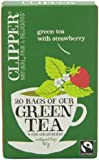 Clipper Fairtrade Green with Strawberry 20 Teabags (Pack of 6, Total 120 Teabags)