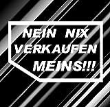 2xAutoaufkleber JDM Karte *NEIN NIX VERKAUFEN MEINS* in verschiedenen Farben (Kupfer Matt)