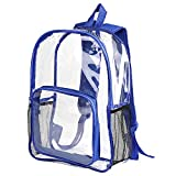Clear Backpack,Transparent Backpack, School Backpack Outdoor Bookbag,Clear PVC Casual Daypack, School Security Backpack