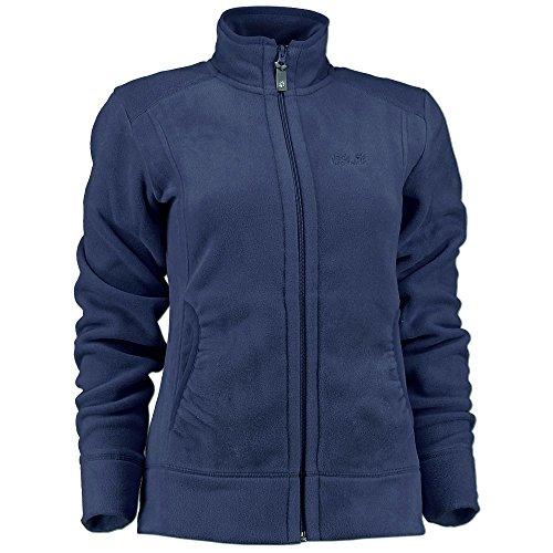Jack Wolfskin Damen Fleece Jacke Moon Track 150er Polartec Classic (S, midnight blue) - Fleece Classic Jacke