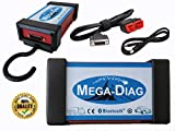 MEGA-DIAG PRO+ KFZ Profi DIAGNOSEGERÄT PKW und LKW Wow MIT Bluetooth OBD OBD2