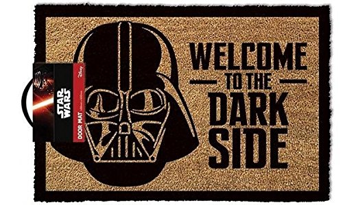 OOTB Star Wars GP85033 - Alfombra para puerta La Guerra de las Galaxias Welcome To The Dark Side, color multicolor