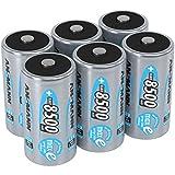 ANSMANN  LSD Mono D Akkubatterie, 1,2 V / Typ 8500mAh / Hochkapazitiver NiMH Akku mit konstant hoher Leistungsabgabe & Langlebigkeit - ideal für Geräte mit hohem Stromverbrauch, 6 Stück