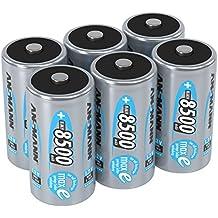 ANSMANN 5035362 maxE 8500 mAh Mono D precargado batería de muy poca descarga 6 Pack